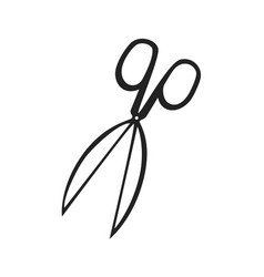 hand drawn icon of scissors vector image