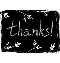 Hand drawn Thank You card vector image