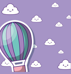 Hot air balloon desing vector