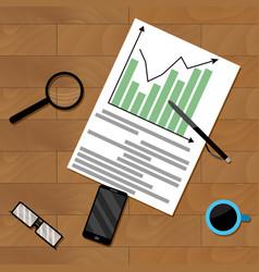 Infochart strategy paperwork vector