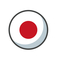 Isolated japan flag icon block design vector