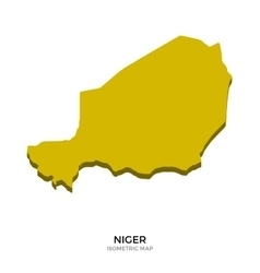 Isometric map of Niger detailed vector image