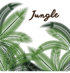 jungle leaves pattern isolated icon design vector image