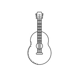 Line guitar musical instrument to play music vector