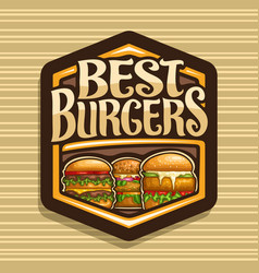 Logo for best burgers vector