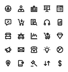 Market and economics icons 3 vector