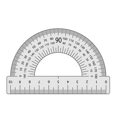 Measuring instrument is a protractor vector