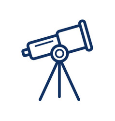 microscope icon on white background vector image
