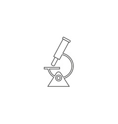 microscope of science icon vector image