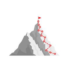Mountain climb path challenge journey base vector