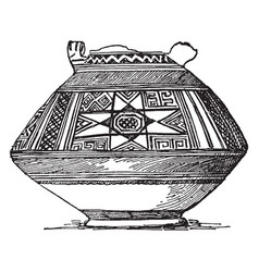 Phenician vase from jerusalem vintage engraving vector