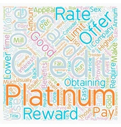 Platinum Credit Cards Are What You Want To Have vector