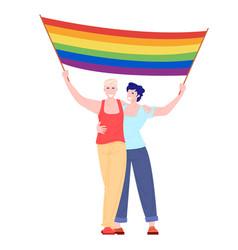 prade lgbt pride festival concept vector image