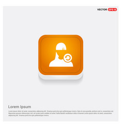 Reload user icon orange abstract web button vector