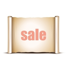 Sale Banner on a white background vector image