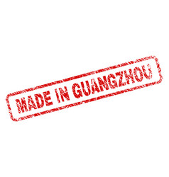 Scratched made in guangzhou rounded rectangle vector