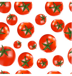seamless background of tomatoes vector image