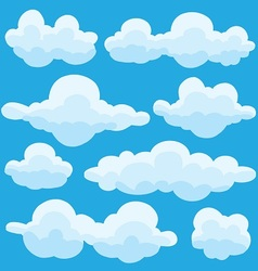 set of clouds on blue sky vector image