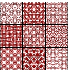 Set of seamless patterns of seven-pointed stars vector