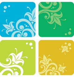 set of summer backgrounds vector image