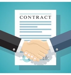 Signing of a treaty business contract vector
