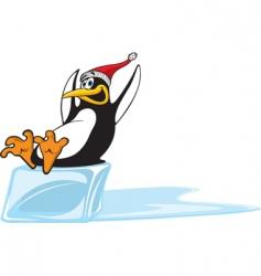 sliding penguin vector image