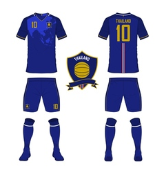 Soccer kit football jersey template for Thailand vector image