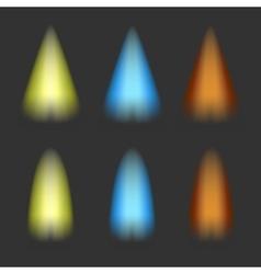 spotlights on a dark background vector image