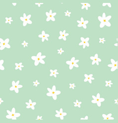 spring daisy floral repeat pattern pattern vector image