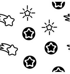star icon set seamless pattern vector image