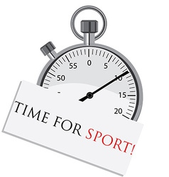 Stopwatch with text time for sport vector