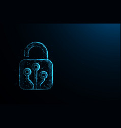 technology cyber security concept lock symbol vector image