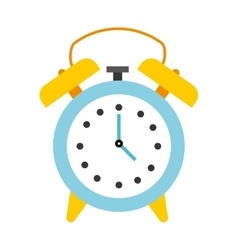 time clock watch alarm icon vector image