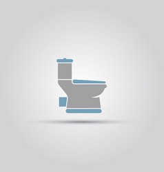 toilet isolated symbol vector image