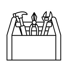 Tools box construction tool isolated icon vector
