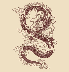 Traditional asian dragon vector