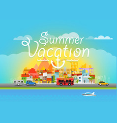 Travel summer vacation travel vector