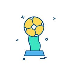 trophy winner icon design vector image