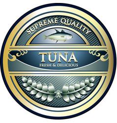 tuna gold icon vector image