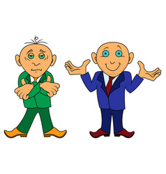 Two cartoon amusing men vector