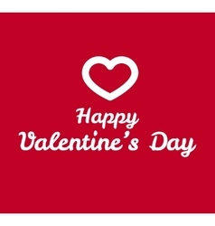 Valentines day greeting card design vector