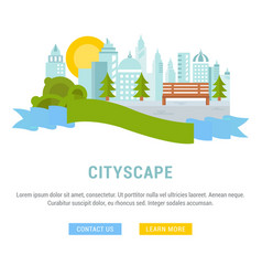 website banner and landing page cityscape vector image