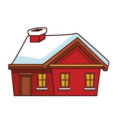 winter house cartoon vector image