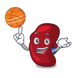 With basketball spleen character cartoon style vector