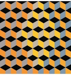Yellow Abstract Pattern - Triangle and Square vector image