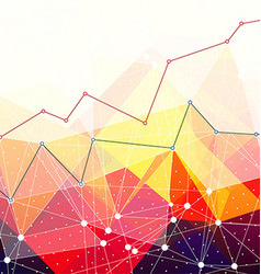 Abstract colorful triangles background Business vector image vector image