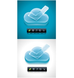 cloud computing xxl icon vector image vector image
