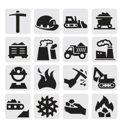 coal icon vector image vector image