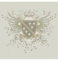 coat of arms with Fleur-de-lis vector image