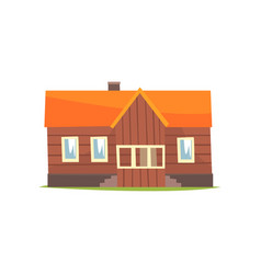 farm house rural cottage cartoon vector image vector image